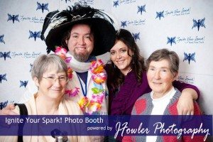 One of the best moments of one of my events: This is my great aunt, my husband (being a good sport in the hat), me and my grandma. Ignite 2012.