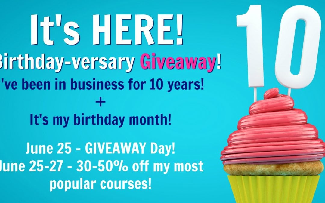 Birthday-versary SALE!